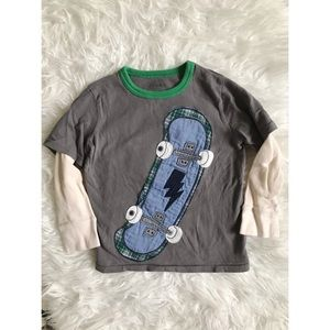 Gap Baby Size 4 Thermal Sleeves Print Patched Tee